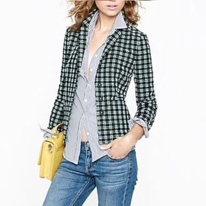 J.Crew Shrunken Blazer in Embroidered Plaid